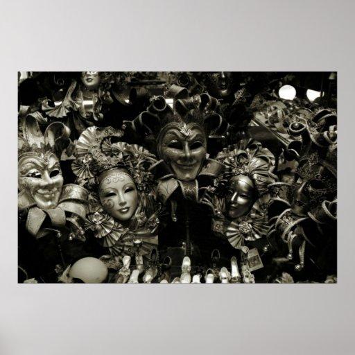 Poster del carnaval el carnaval de Venecia