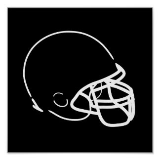 Poster del casco de fútbol americano