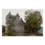 Poster del castillo francés de Auvergne