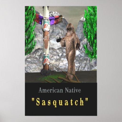 Poster del cazador de Bigfoot