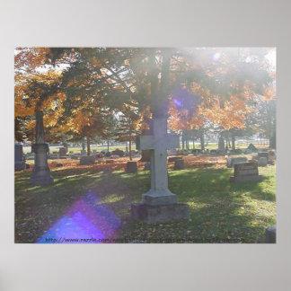 Poster del cementerio de Graceland