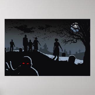Poster del cementerio del zombi