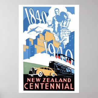 Poster del Centennial de Nueva Zelanda