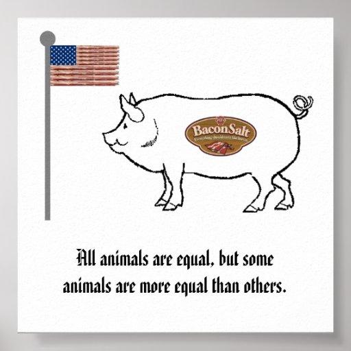 poster del cerdo de la nación de la sal del tocino