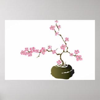 Poster del cerezo de los bonsais