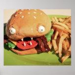Poster del cheeseburger del tocino del monstruo