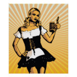 Poster del chica de Bierfest del alemán
