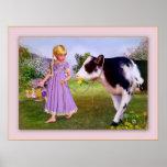 poster del chica de la vaca de Heidi A PARTIR del