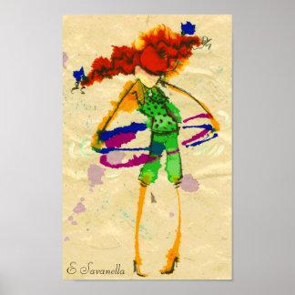 Poster del chica del aro de Hoola