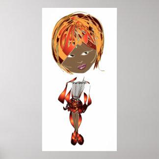 poster del chica del arte de Digitaces de los Coco