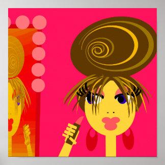 Poster del chica del arte pop
