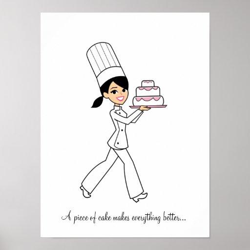 Poster del chica del cocinero del panadero de la t