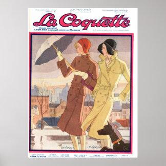 Poster del chica del paraguas de la coqueta del La