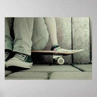Poster del chica del patinador