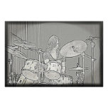Poster del chica del tambor o del batería