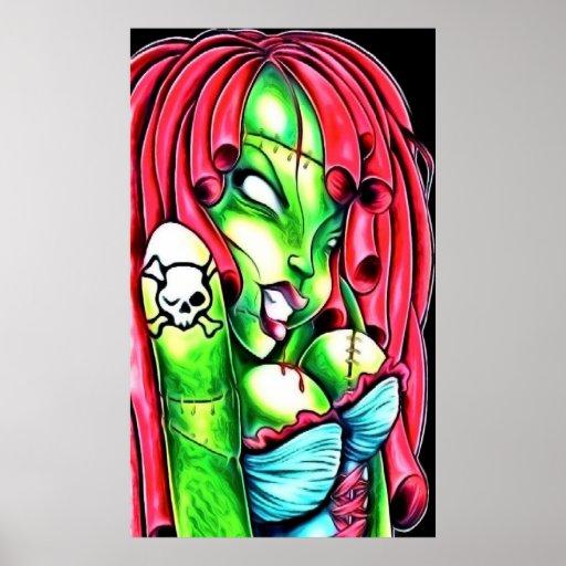 Poster del chica del zombi póster