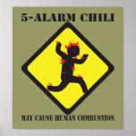 Poster del chile de 5 alarmas