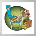 Poster del chimpancé de Flippin