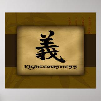 Poster del chino de la rectitud