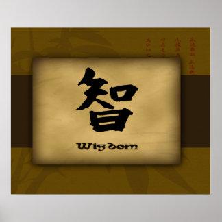 Poster del chino de la sabiduría