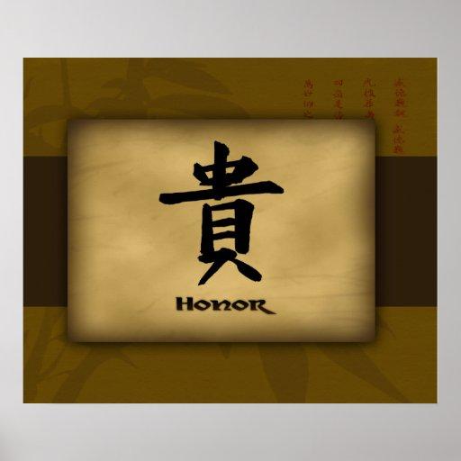 Poster del chino del honor póster