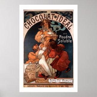 Poster del chocolate de Nouveau del arte de Mucha