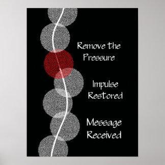Poster del choque del nervio del Subluxation de la Póster