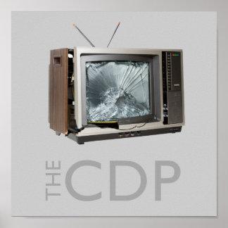 Poster del choque TV del CDP Póster