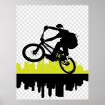 Poster del ciclista de BMX