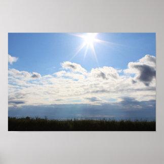Poster del cielo azul de Sun
