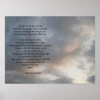 Poster del cielo del rezo de la serenidad