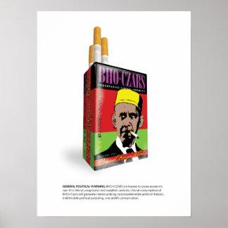 Poster del cigarrillo de los zares del BHO de Obam
