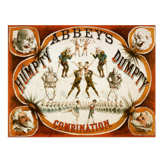 Poster del circo de la combinación de Humpty Postal