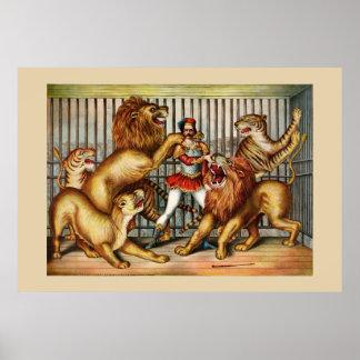 Poster del circo de los grandes daneses
