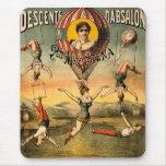 Poster del circo de Srta. Stena Flying Trapese Vin Alfombrilla De Ratón