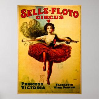 Poster del circo de Venta-Floto del vintage