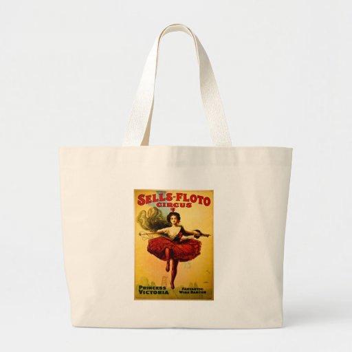 Poster del circo de Venta-Floto del vintage Bolsa Tela Grande