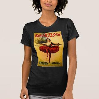 Poster del circo de Venta-Floto del vintage Camisetas