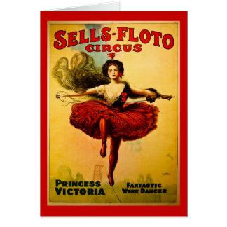 Poster del circo de Venta-Floto del vintage Tarjeta De Felicitación