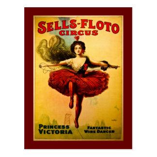 Poster del circo de Venta-Floto del vintage Postal