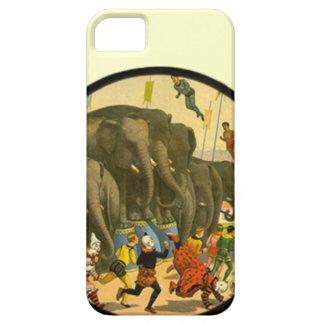 Poster del circo del vintage - casos del iphone de iPhone 5 Case-Mate protectores