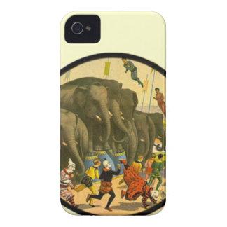 Poster del circo del vintage - casos del iphone de iPhone 4 Case-Mate fundas