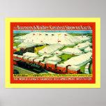 Poster del circo del vintage del ~ de Barnum y de