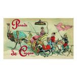 Poster del circo del vintage del ~ de Parade de Ci
