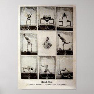 Poster del circo del vintage del jamón de Abdul
