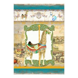 Poster del circo del vintage fiesta de bienvenida