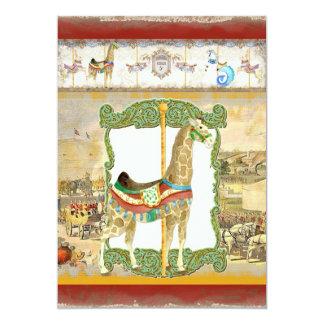 """Poster del circo del vintage, fiesta de bienvenida invitación 5"""" x 7"""""""