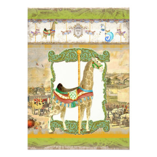 Poster del circo del vintage fiesta de cumpleaños