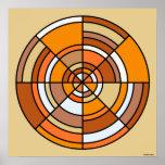 Poster del círculo de la ilusión óptica