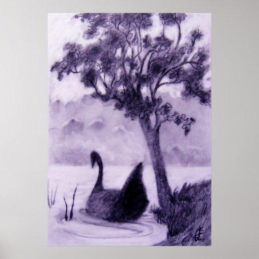 """Poster del """"cisne oscuro"""""""